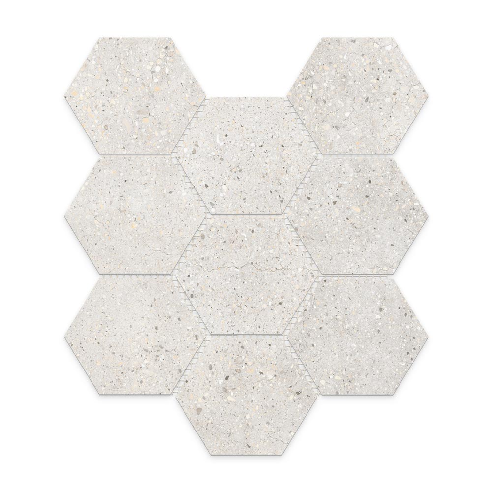 Betonic_Bianco_Hexagon_Mosaic