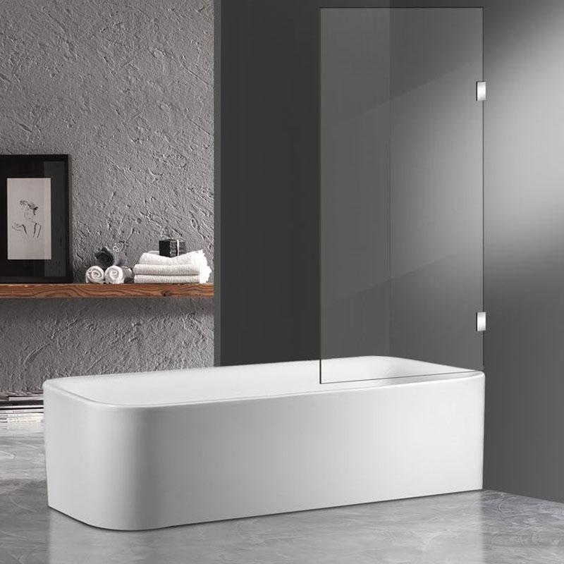 Fixed-Frameless-Bath-Screen