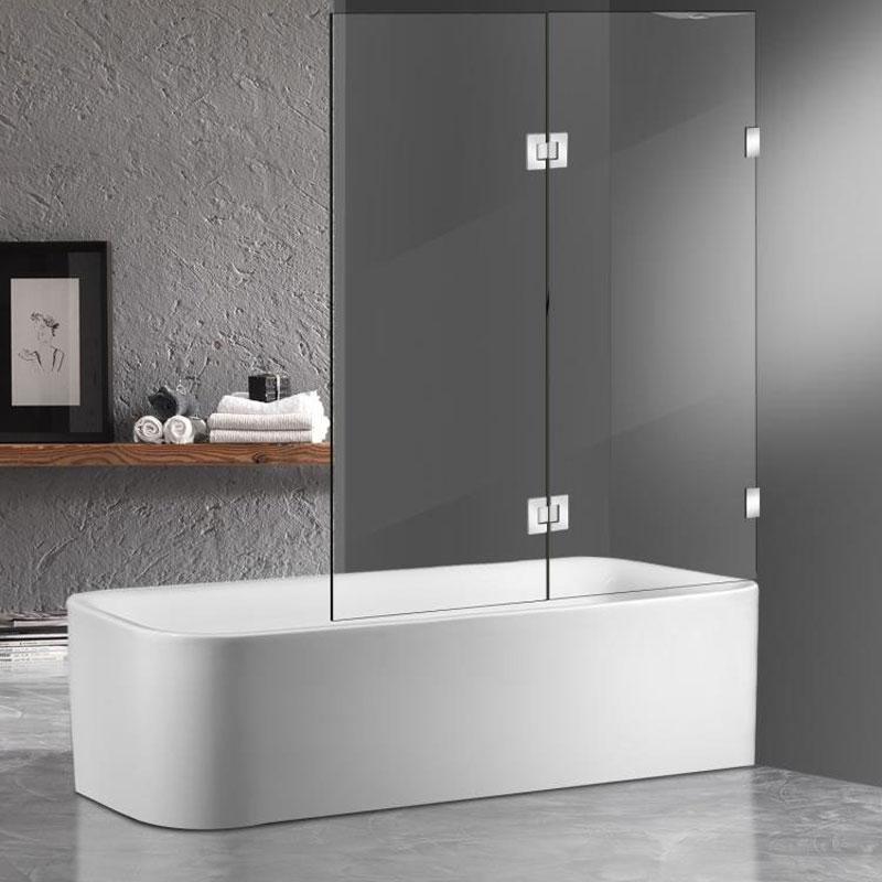 Fixed-Swing-Frameless-Bath-screen